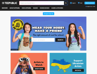 teepublic.com screenshot