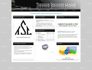 teessidesnooker.co.uk screenshot