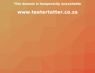 teetertotter.co.za screenshot