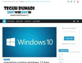 teguhdumadi.web.id screenshot