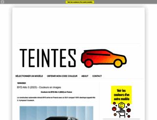teintes.fr screenshot