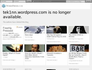 tek1nn.wordpress.com screenshot