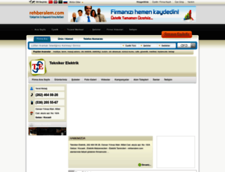 tekniker_elektrik.rehberalem.com screenshot