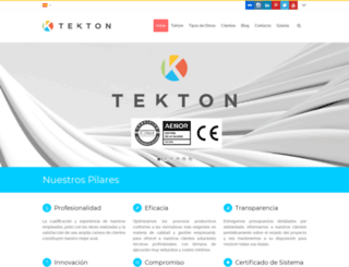tekton.es screenshot