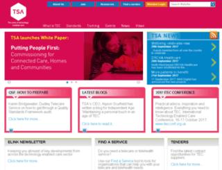 telecare.org.uk screenshot