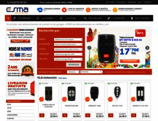 telecommande-esma.com screenshot