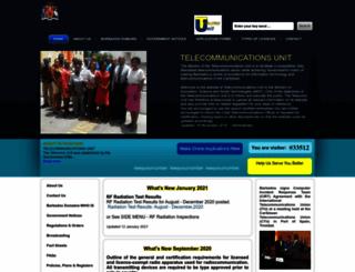 telecoms.gov.bb screenshot