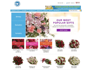 teleflora.com.au screenshot
