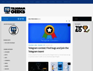 telegramgeeks.com screenshot