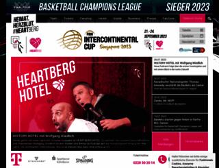 telekom-baskets-bonn.de screenshot
