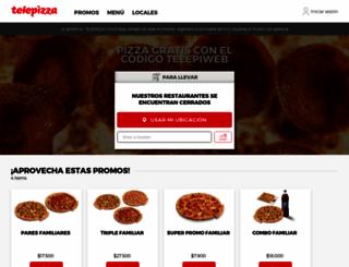 telepizza.cl screenshot
