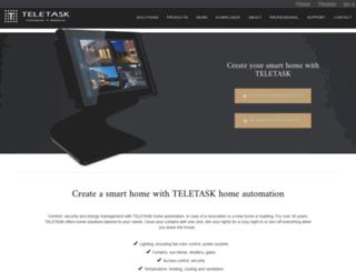 teletask.eu screenshot