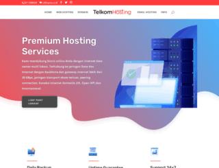 telkomhosting.com screenshot