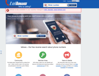 tellows-au.com screenshot