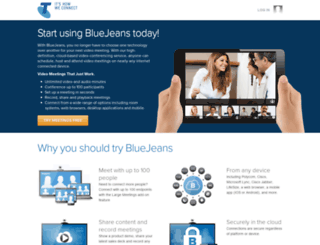 telstra.bluejeans.com screenshot