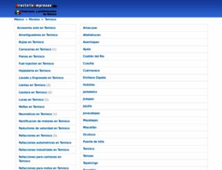 temixco.directorioempresas.mx screenshot