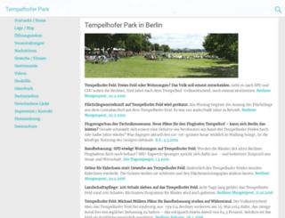 tempelhofer-park.de screenshot