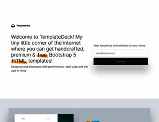 templatedeck.com screenshot