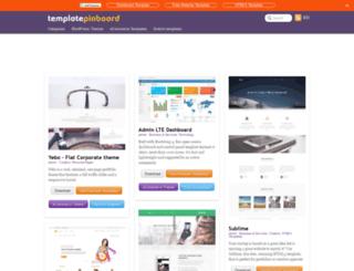 templatepinboard.com screenshot