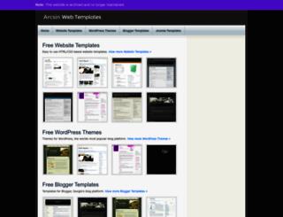 templates.arcsin.se screenshot