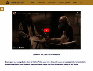 templeinstitute.org screenshot