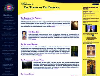 templeofthepresence.org screenshot