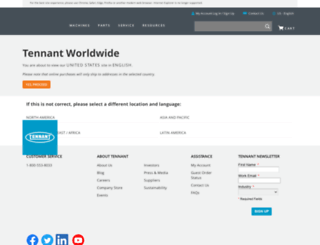 tennantco.com screenshot