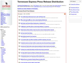 tennessee-press-release.com screenshot