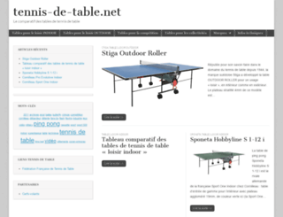 tennis-de-table.net screenshot