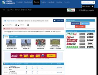 tennis-en-direct.com screenshot