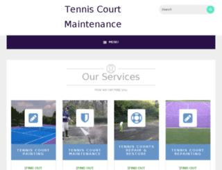 tenniscourtmaintenance.eu screenshot