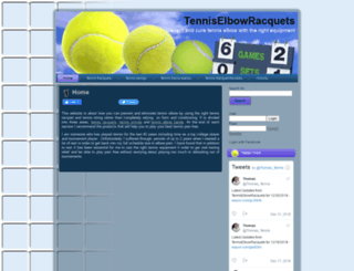 tenniselbowracquet.com screenshot