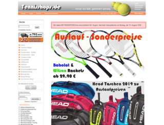 tennisshops.de screenshot