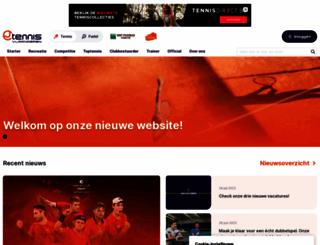 tennisvlaanderen.be screenshot