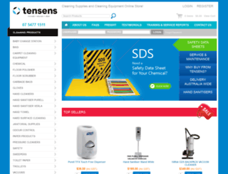 tensens.com.au screenshot