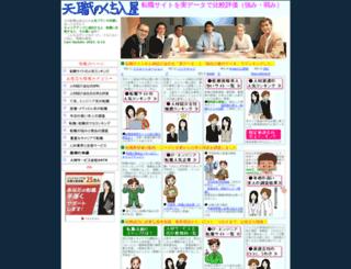 tenshoku-site-ranking.com screenshot