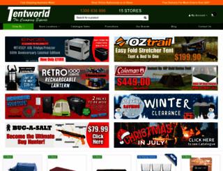tentworld.com.au screenshot