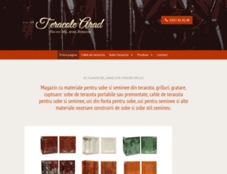 teracote-arad.ro screenshot