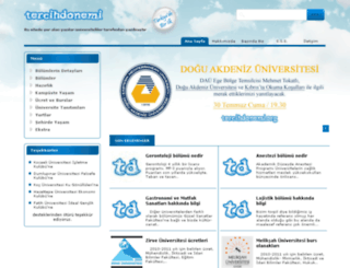 tercihdonemi.com screenshot