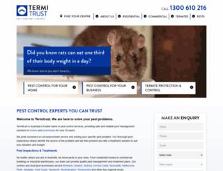 termitrust.com.au screenshot