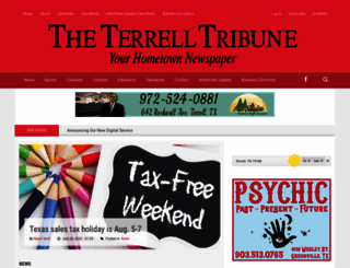 terrelltribune.com screenshot