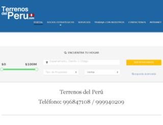 terrenosdelperu.com screenshot