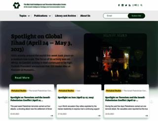 terrorism-info.org.il screenshot