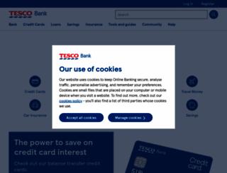 tescobank.com screenshot