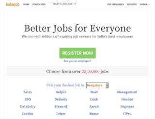 test.babajob.com screenshot