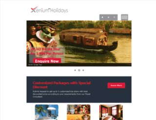 test.xeniumholidays.com screenshot