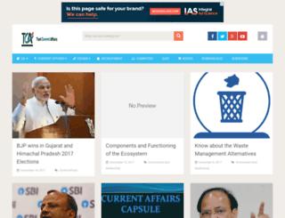 testcurrentaffairs.com screenshot