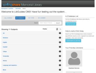 testdrive.libguides.com screenshot