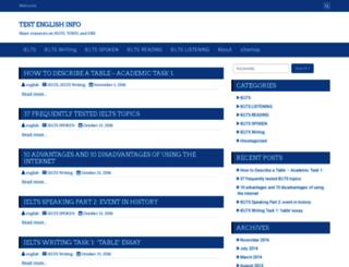 testenglish.info screenshot
