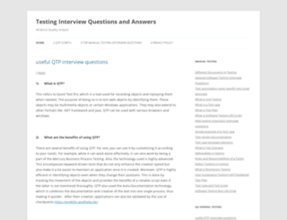 testinginterviewquestionsandanswers.com screenshot